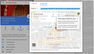 Sharing And Embedding Map Location