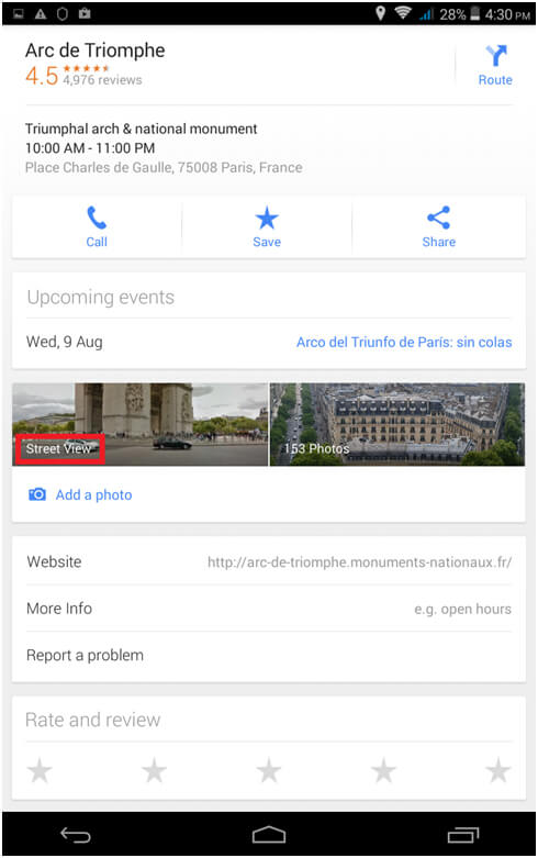 Using Google Maps Street view on your phone - Embed Google Maps